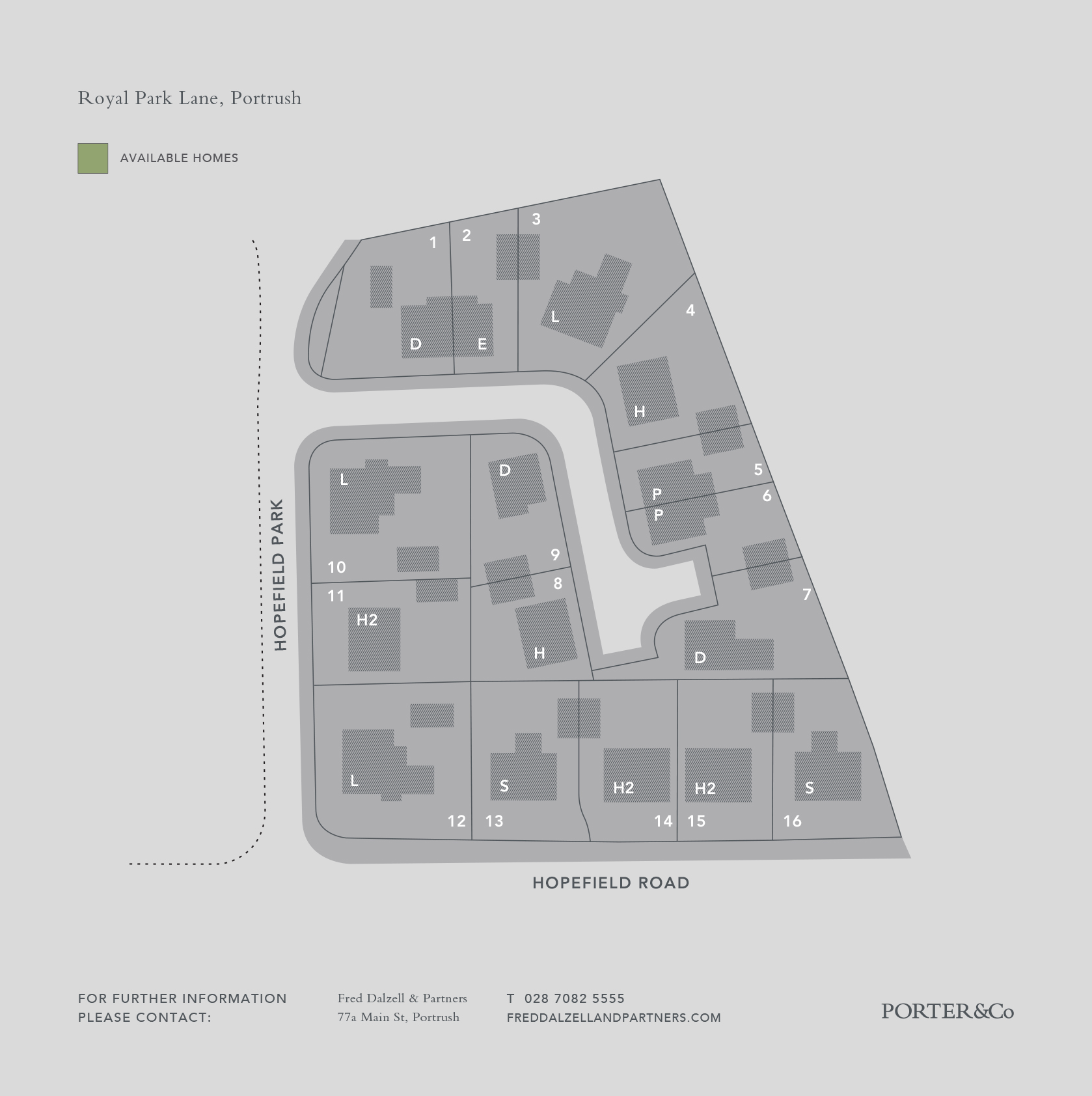 Application Site Map: Porter Homes :: Royal Park Lane Development, Portrush