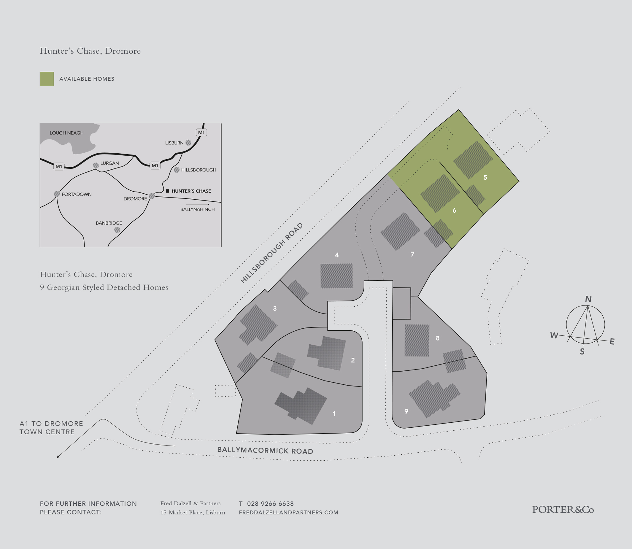 Application Site Map: Porter Homes :: Hunter's Chase